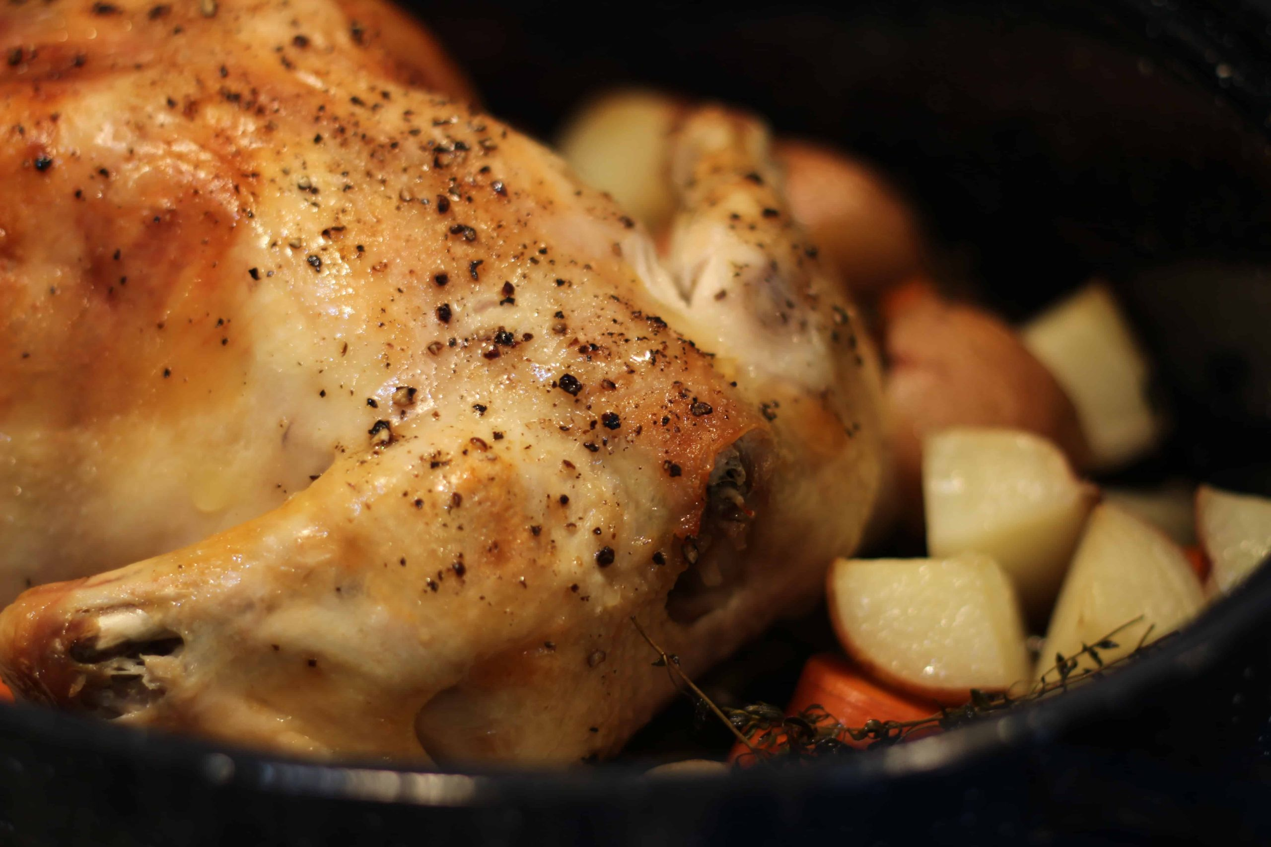 Roast Chicken with Red Potatoes!