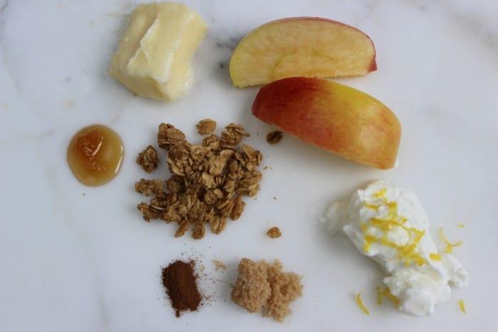 Burnt Macaroni - apples and granola 041a