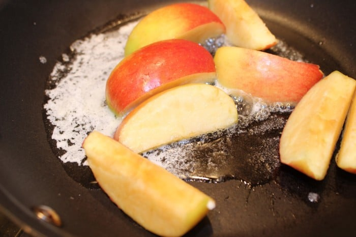 Burnt Macaroni - apples and granola 048a