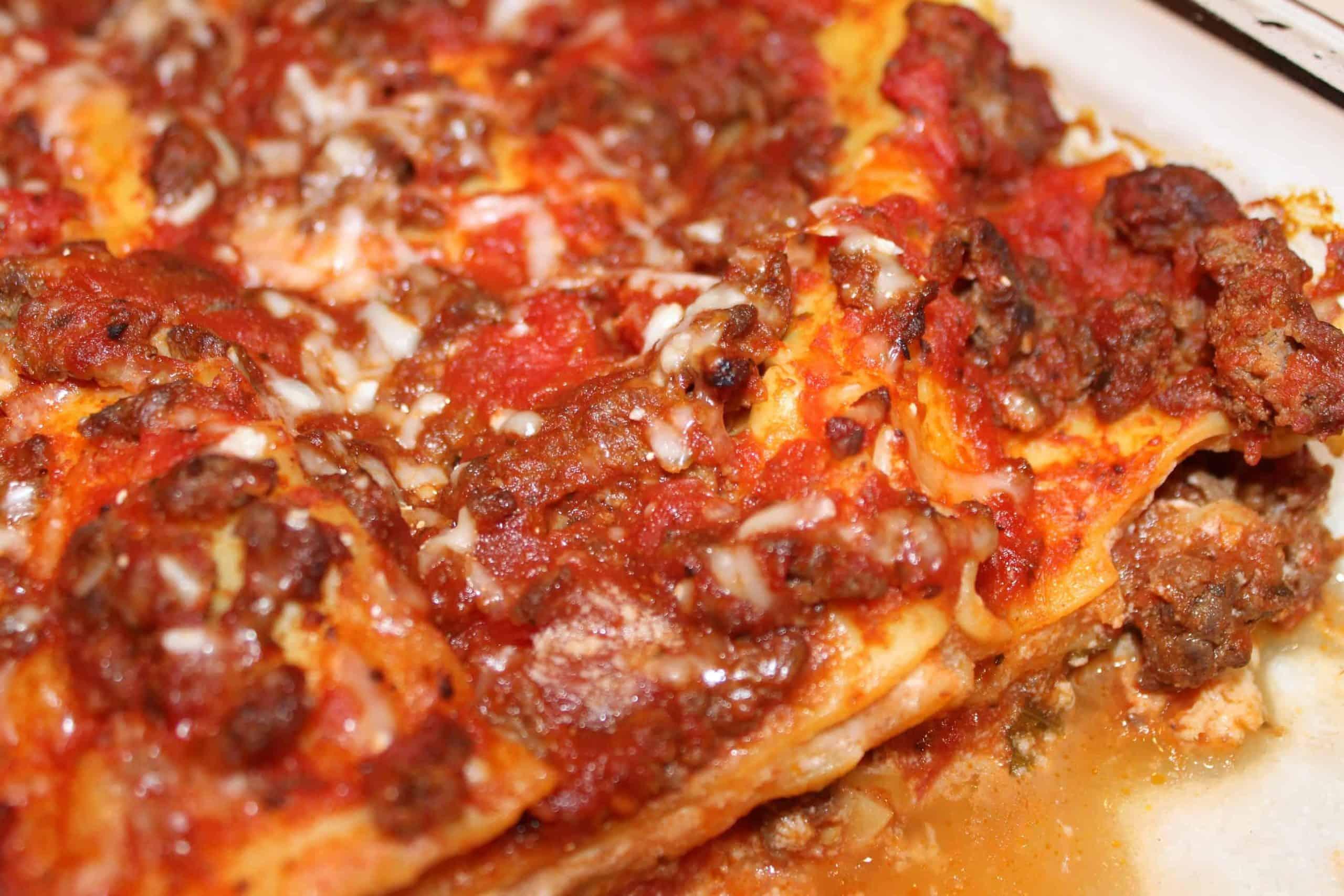 Lasagna with Meat Sauce!