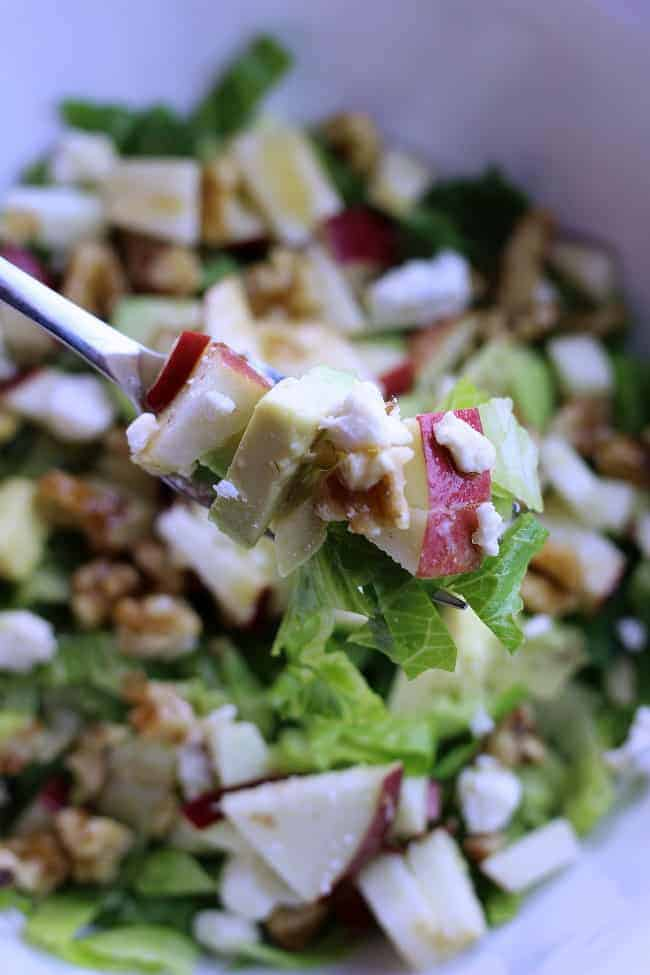 Chopped Salad with Maple Syrup Dressing