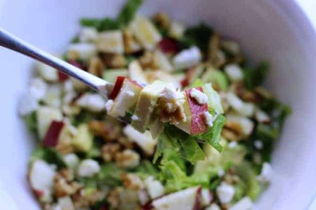 Chopped Salad with Maple Syrup Dressing b