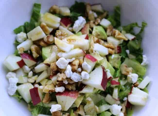 Chopped Salad with Maple Syrup Dressing h