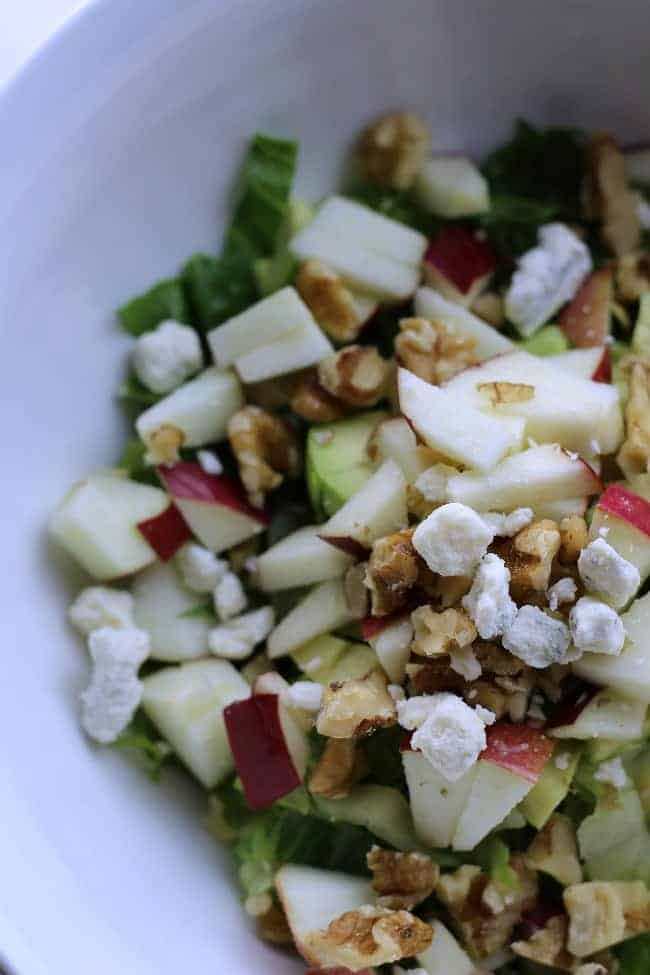 Chopped Salad with Maple Syrup dressing d
