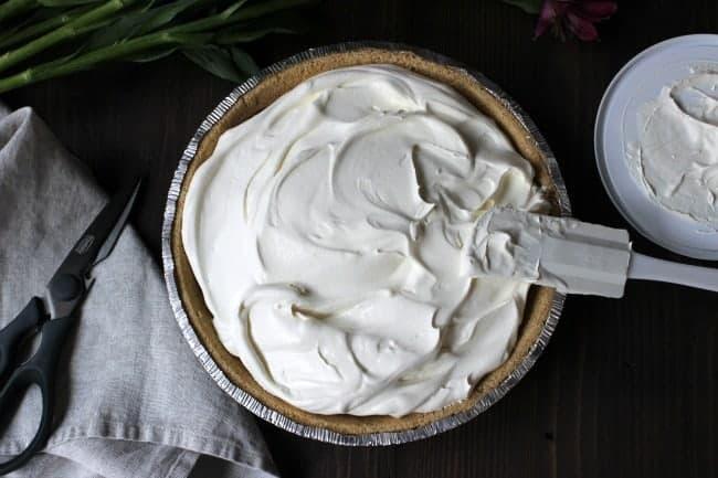 No Bake Chocolate Pie f