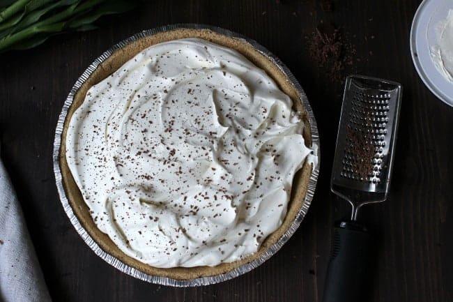No Bake Chocolate Pie g