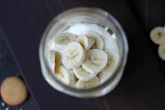 Banana Cream Cheesecake in a Jar