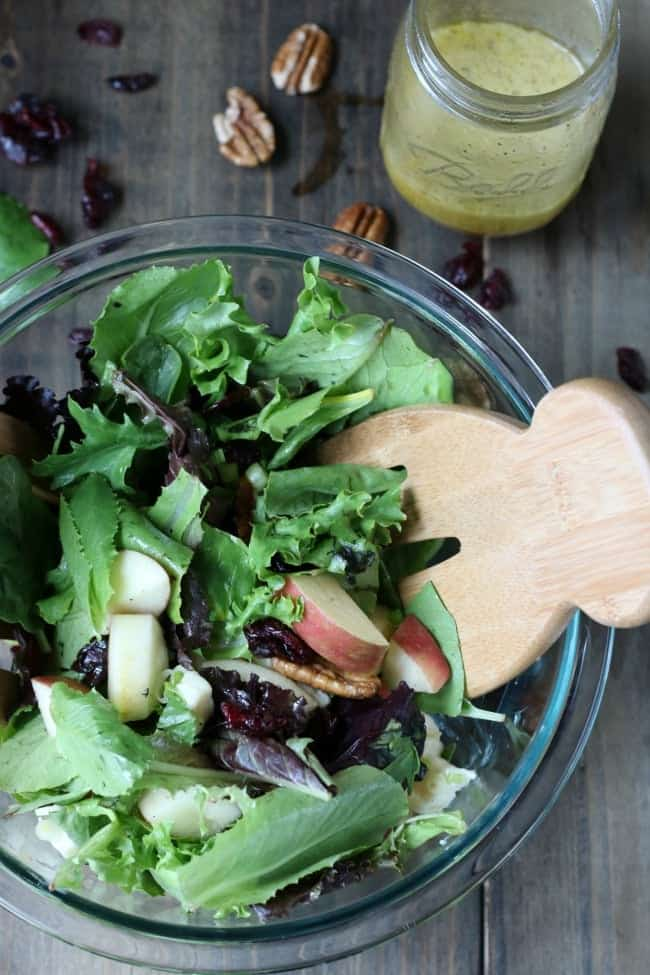 Apple Brie Salad with Ginger Dressing