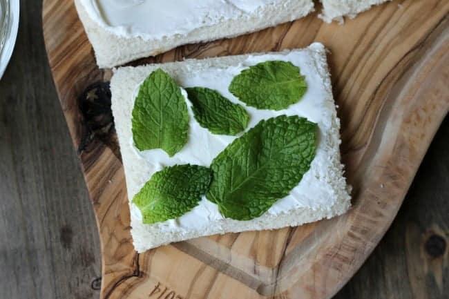 Cucumber Cream Cheese Tea Sandwich