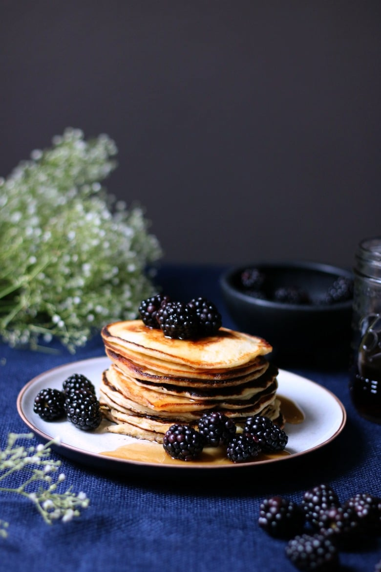 Buttermilk Pancakes with Blackberries