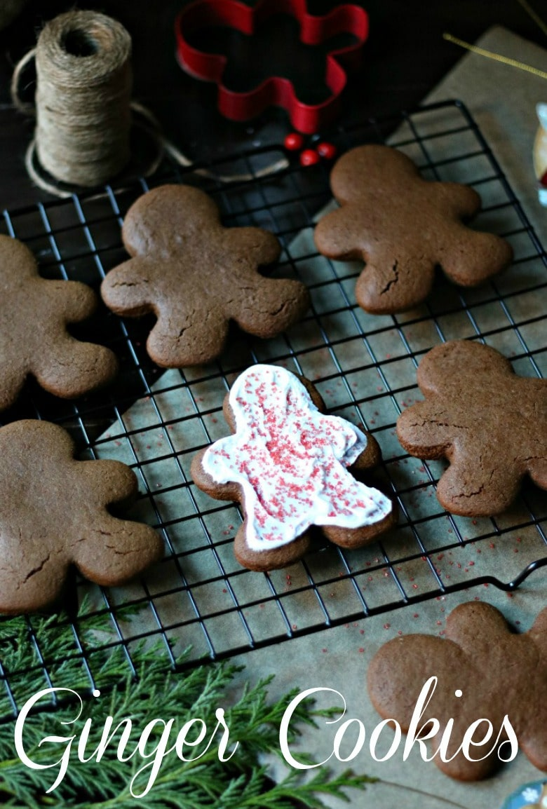 Cookies made with ginger