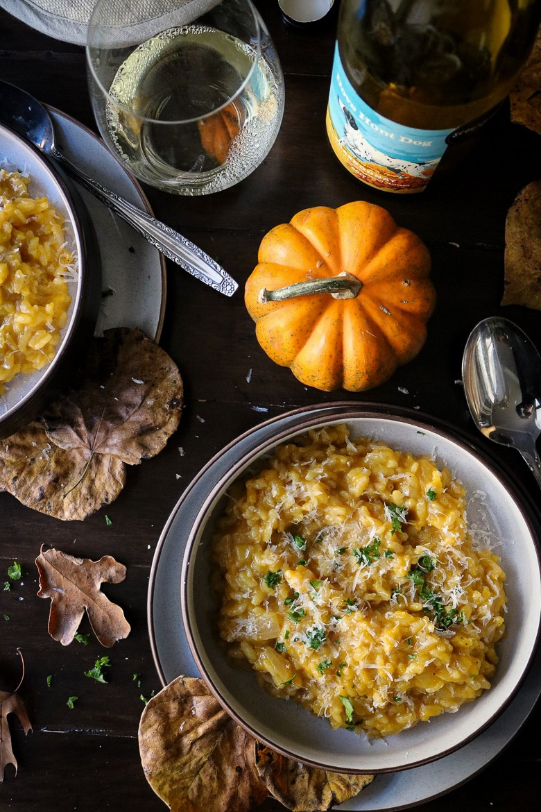 Pumpkin Risotto with Chardonnay