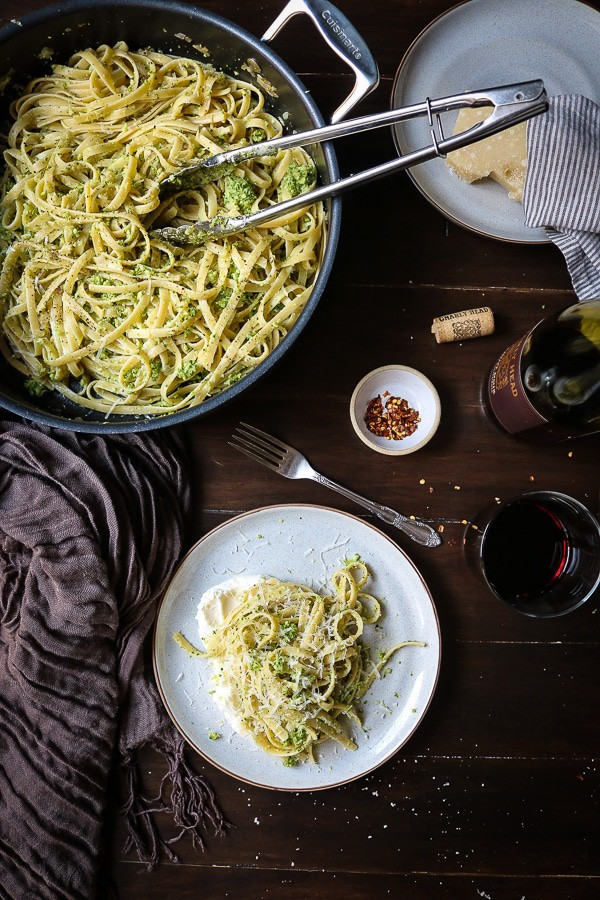 Broccoli Pesto Pasta with Ricotta