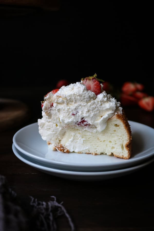 Angel Food Cake with Strawberries & Whipped Cream
