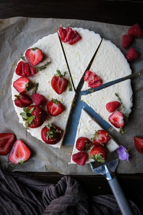 This delicious lemon tart with fresh berries is the perfect summer dessert