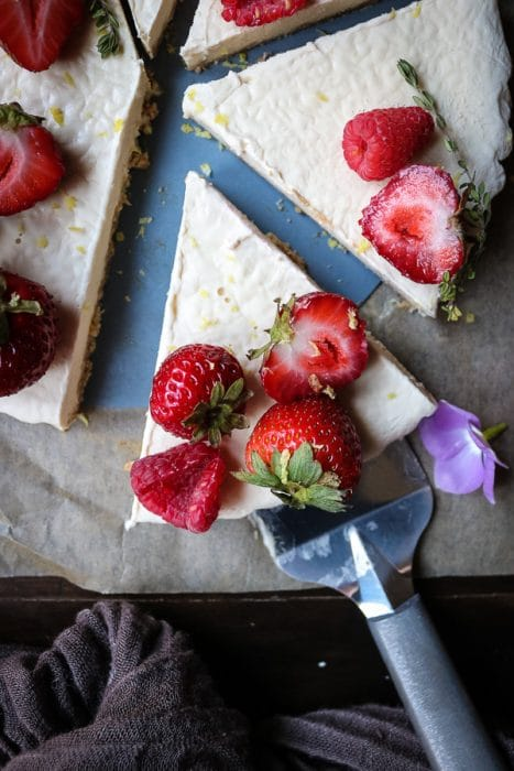 Delicious summer lemon tart recipe with fresh berries