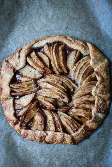 This apple galette tastes just like an apple pie