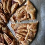 This perfectly made galette is covered in sweet apples and baked in the oven