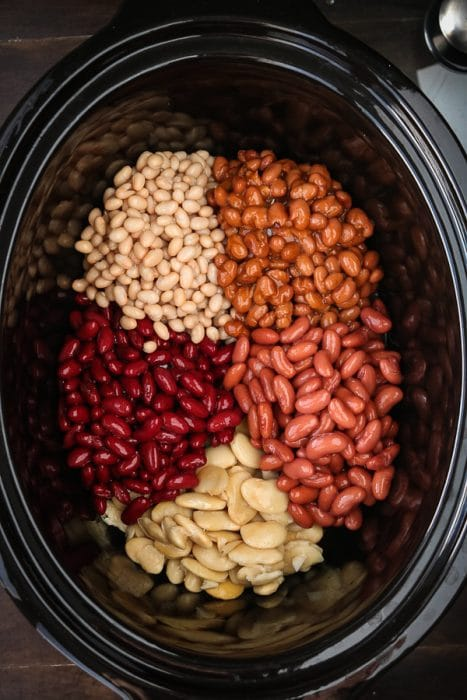 Bean chili recipe made in slow cooker