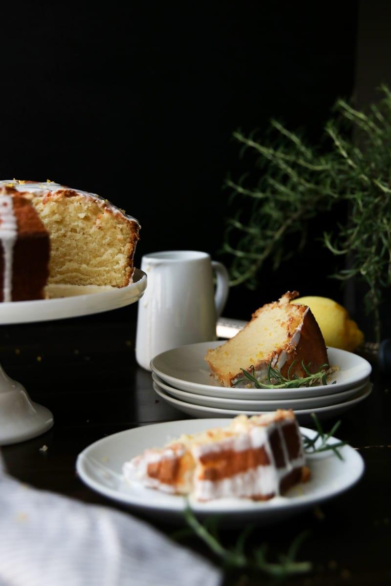 Lemon Pound Cake with lemon icing