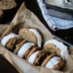 Ice cream sandwiches in pan