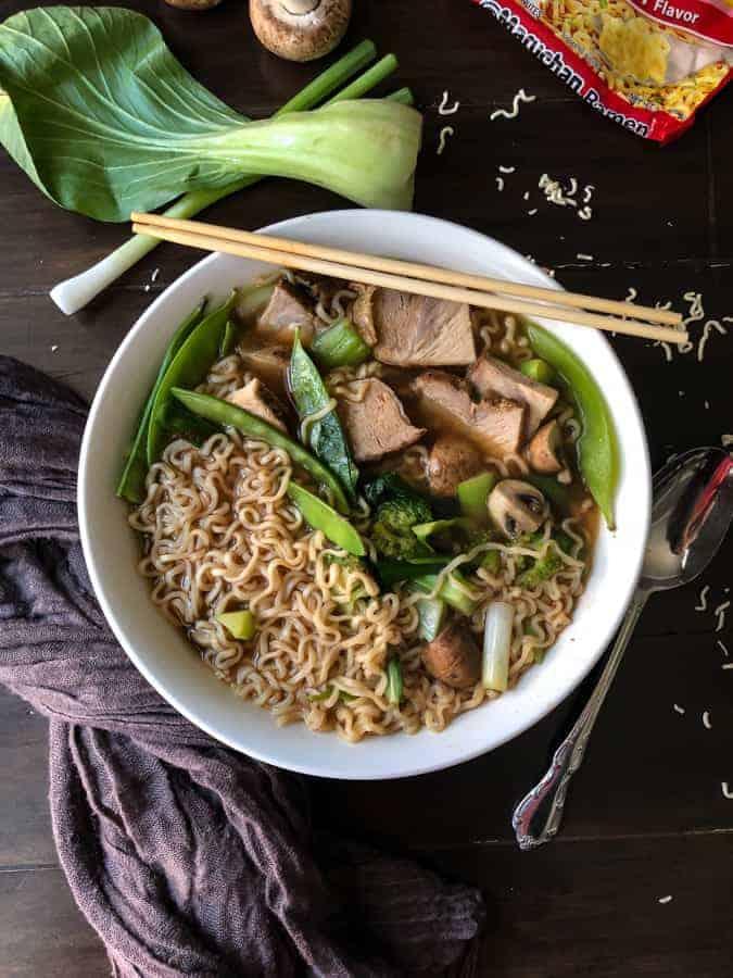 Pho Soup with Ramen Noodles