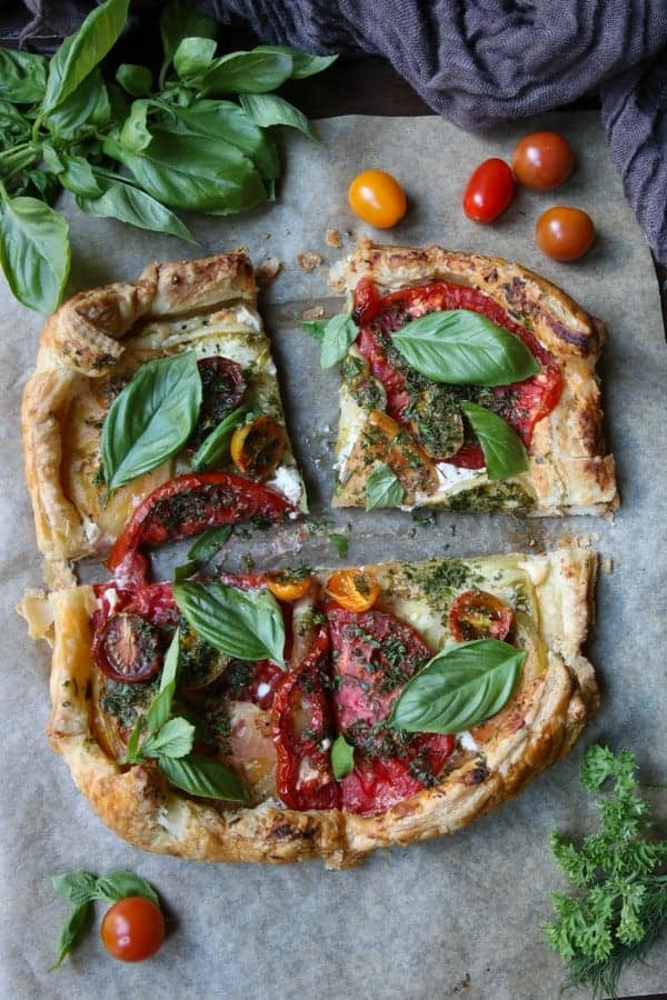 Roasted Tomato Tart with Boursin Cheese