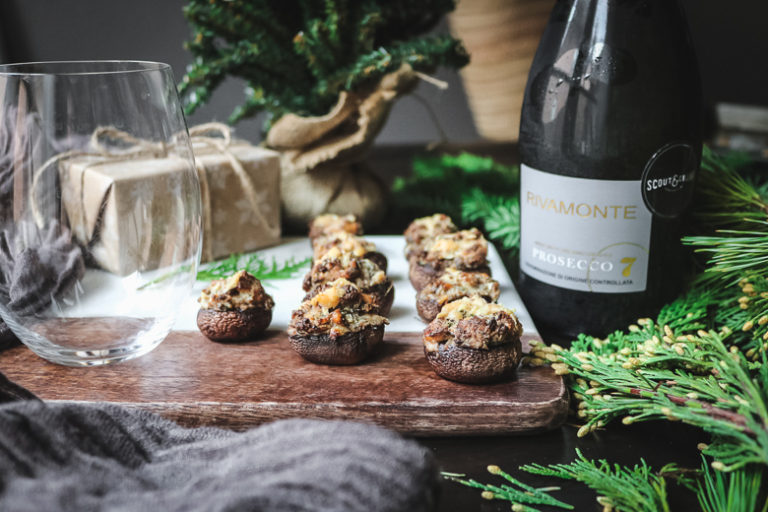Stuffed Mushrooms Paired with Prosecco