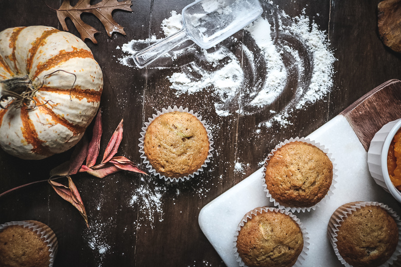 Pumpkin Zucchini Cupcakes
