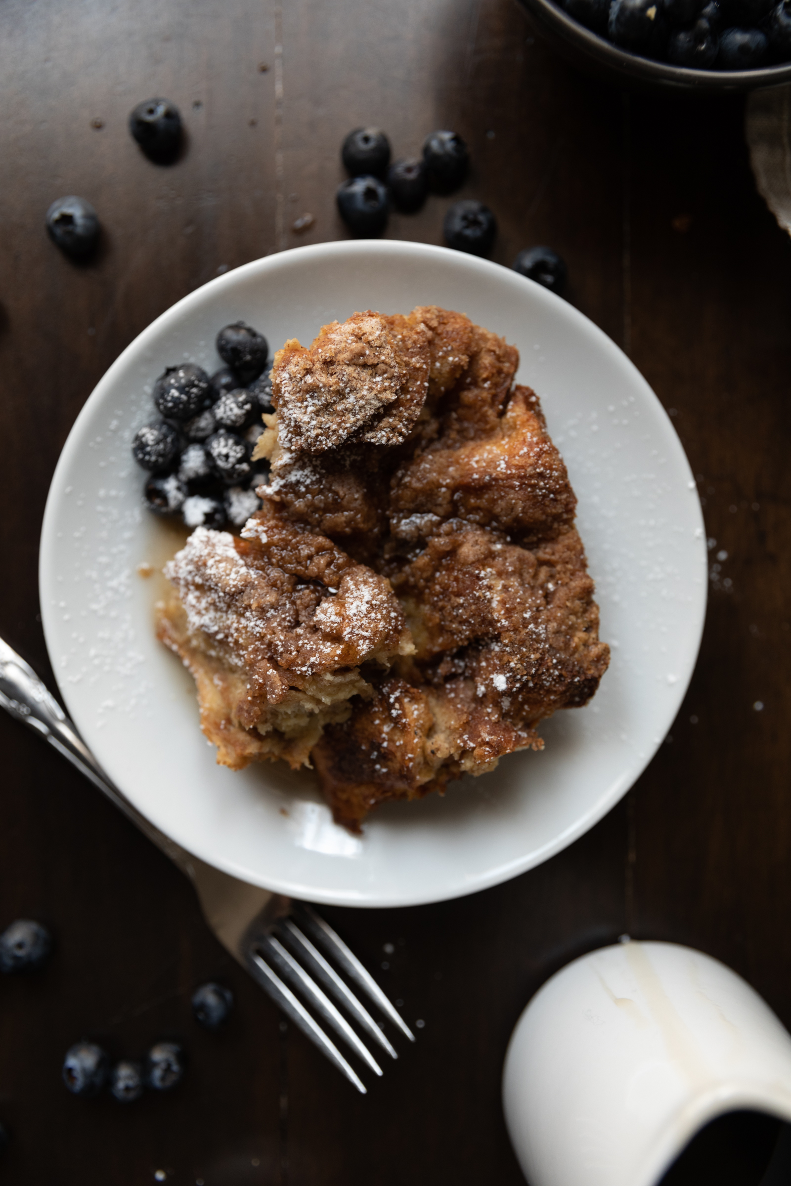 Plate of french toast bake