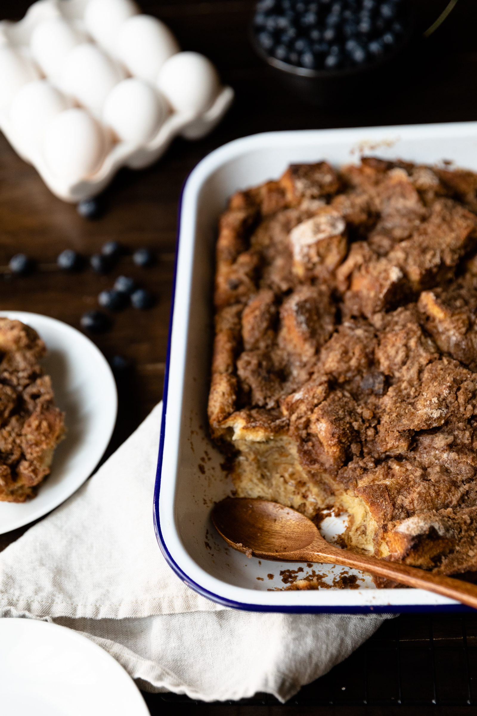 French toast in casserole dish